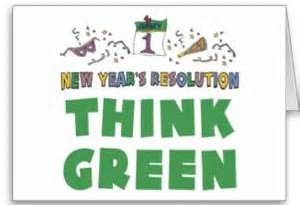 new year think green