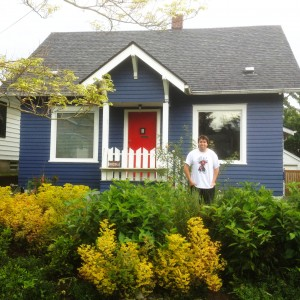 …and by August 2012, the house needed some paint - to make it look as good as the landscaping!