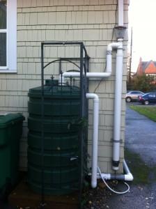 The back yard cistern.