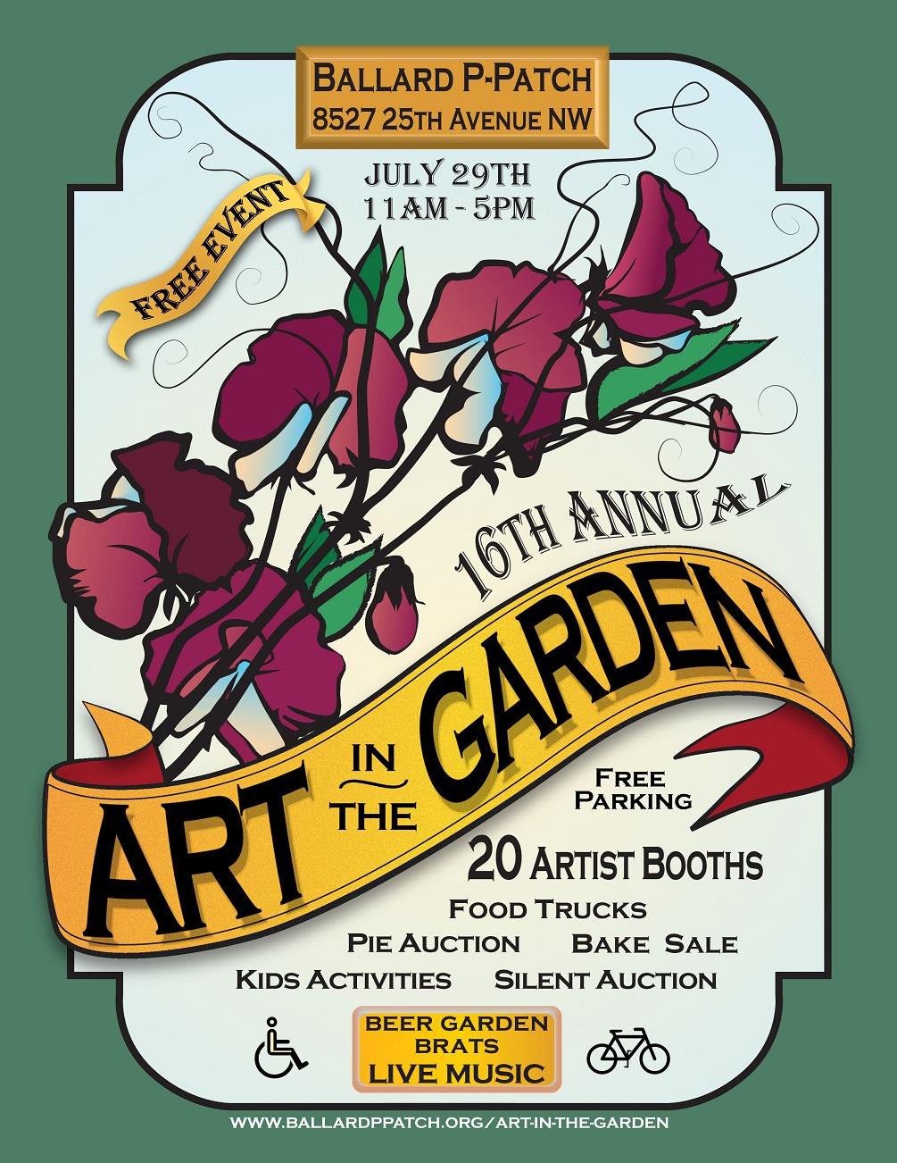 "Ballard P-Patch ""Art in the Garden"" – July 29 – sustainable"